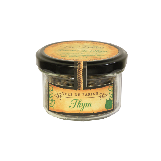 Pot insectes comestibles herbes thym